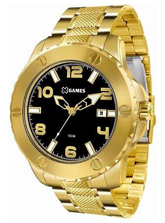 Relógio Masculino Dourado e Preto X-Games XMGS1026