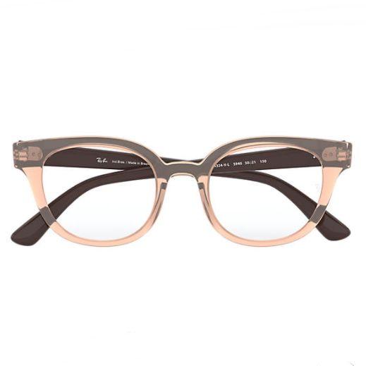 Óculos Ray Ban Marrom Translúcido RB4324VL