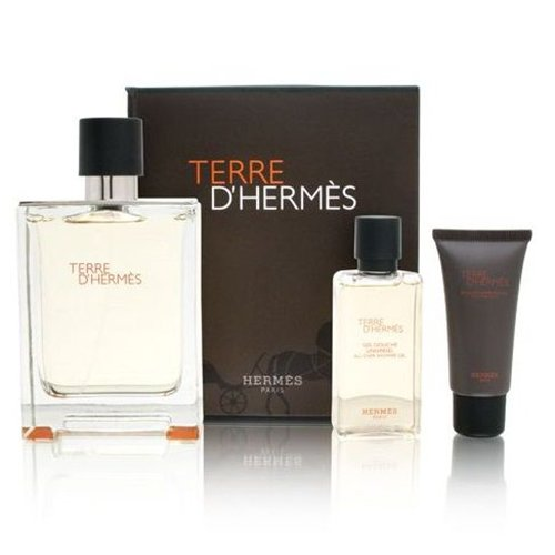 Kit Terre D'Hermes - Perfume 100ml + Shower Gel 40ml + After Shave 15ml