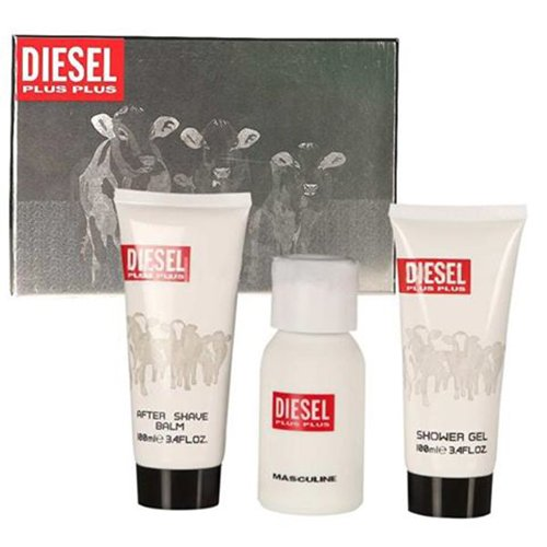 Kit Diesel Plus Plus Masculino - 1 Perfume EDT 100ml + 1 Shower Gel 100ml + 1 After Shave 100ml