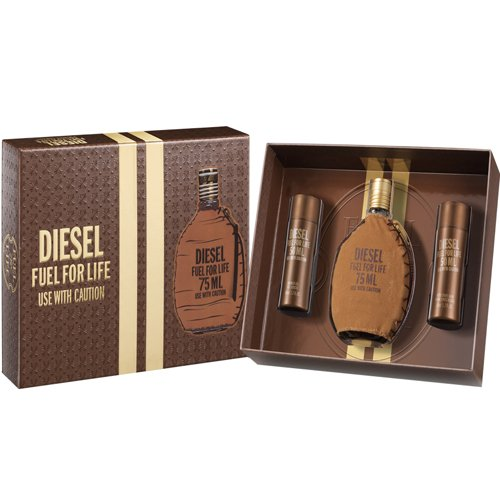 Kit Diesel Fuel For Life Masculino - Perfume 75ml + Shower Gel 50ml + After Shave 50ml