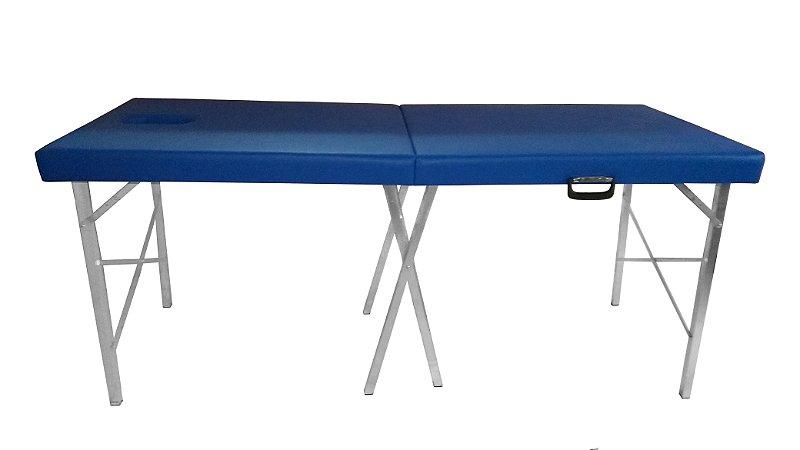 Maca Maleta Mala Portátil com Orifício Profissional Azul