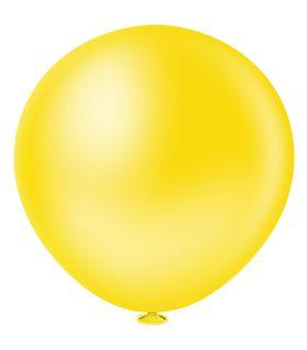 Balão Fatball 250 Liso Amarelo Pic Pic