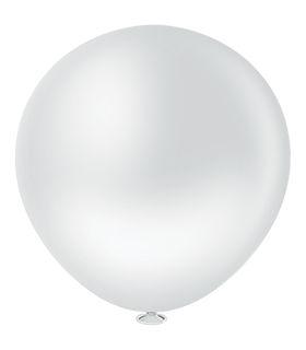 Balão Fatball 250 Liso Branco Pic Pic