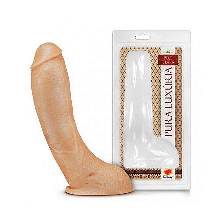 Pênis Curvo - Veias e Escroto - 22,5 x 5,6 cm
