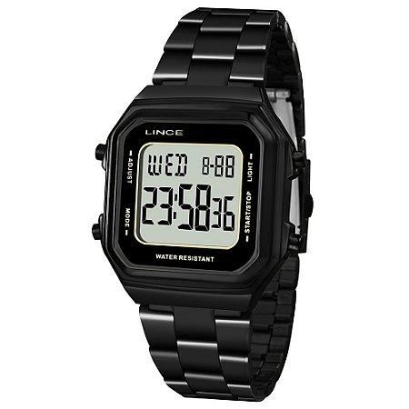 Relógio Lince Digital Clássico Preto SDN617L