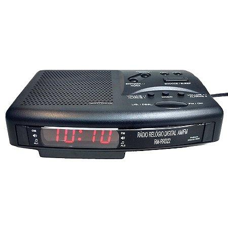 RÁDIO RELÓGIO DIGITAL MOTOBRAS - AM/FM - 110/220V - MODELO: RM-RRD22