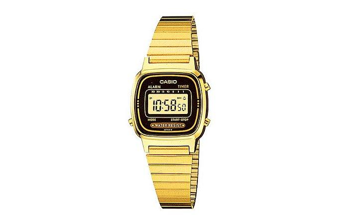 Relógio Casio Feminino Vintage LA670WGA-1DF - Dourado