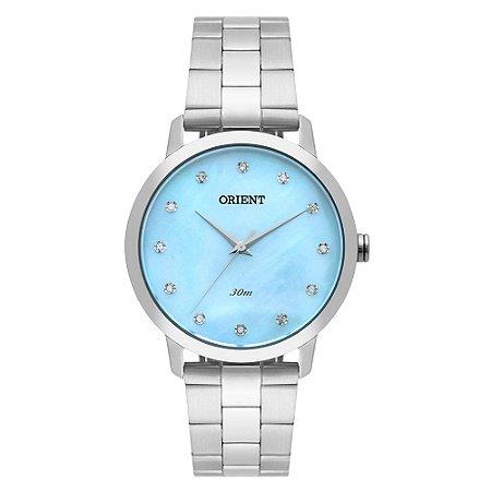 Relógio Orient Feminino FBSS0071-A1SX Análogo Aço Inox Swarovski