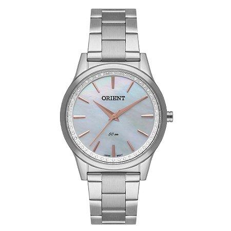 Relógio Orient Feminino FBSS0076-B1SX Análogo Aço Inox Swarovski