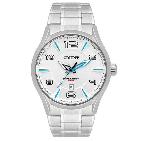 Relógio Orient Masculino MBSS1318-S2SX Análogo Aço Inox - Prata