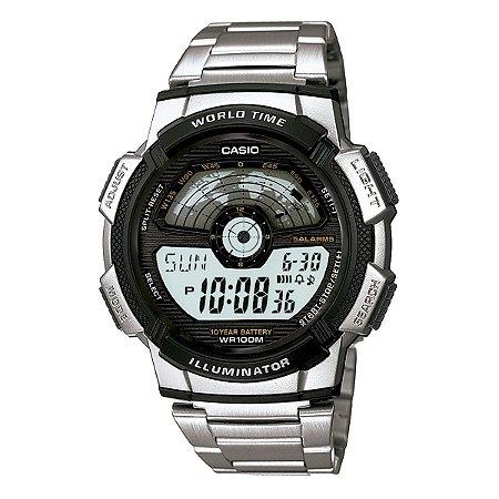 Relógio Casio AE-1100WD-1AVDF DIGITAL - aço