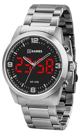 Relógio X Games XTEEL Anadigi LED XMSSA009