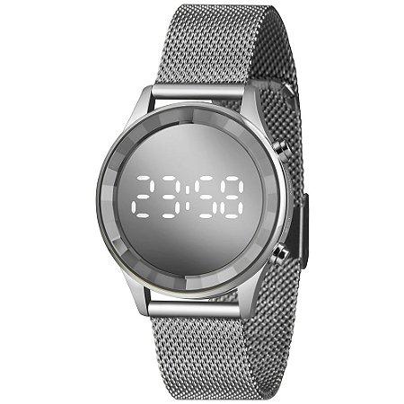 Relógio Lince Feminino LDM4648L-S2SX Digital LED Prateado