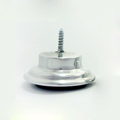 Pé Aluminio Tambor Cromado 3cm