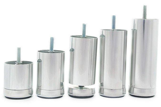 Pé Aluminio 10 cm com Regulagem