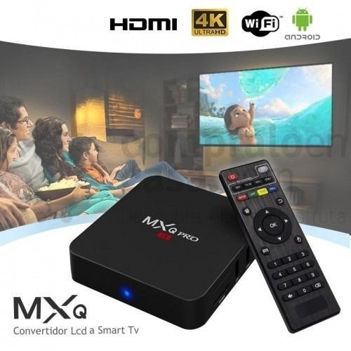 MEGABOX TV - 16 Gb, 2 Gb Ram,  Android 8.1 Mod: MxQ4k Pro + 1 Mês de IPTV Classic Grátis