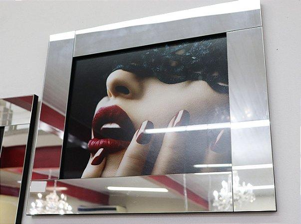 Quadro 04 c/ moldura de espelho - Mulher