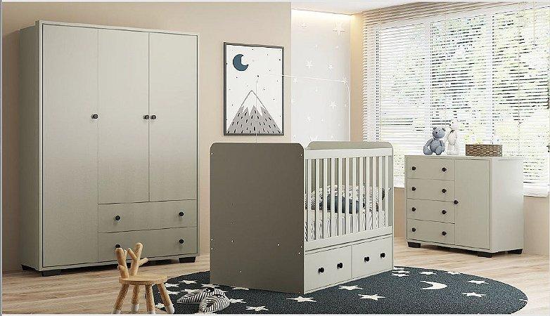 Dormitório Baby Linha Happy Cinza