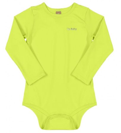 BODY MANGA LONGA EM MALHA UV 130535 VERDE LIMAO - UP BABY