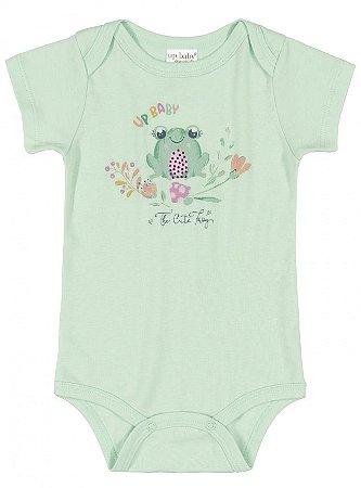 BODY MANGA CURTA EM SUEDINE 136008 VERDE AGUA - UP BABY