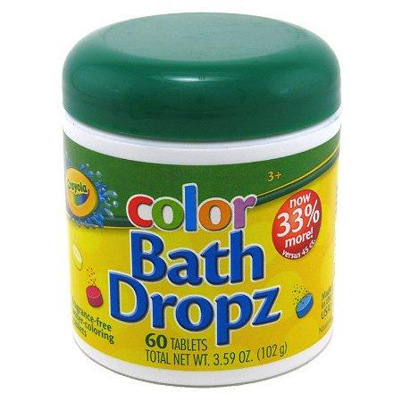 Bath Dropz Pastilhas para Colorir Água Crayola