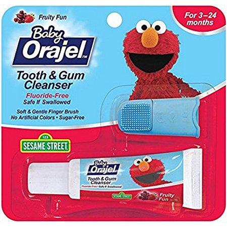 Creme dental com dedal de silicone Orajel (19,8g)