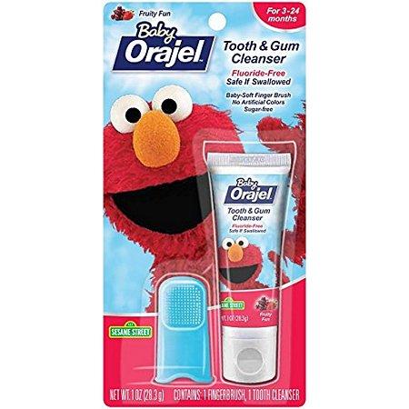 Creme dental com dedal de silicone Orajel (28,3g)