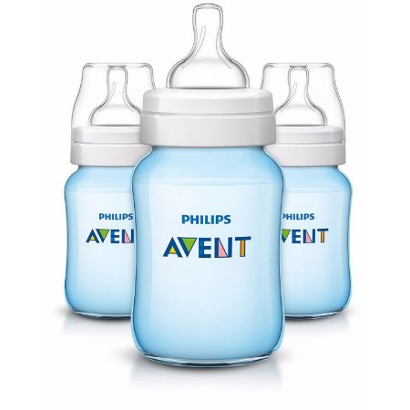Kit com 3 Mamadeiras Anti-Cólicas Philips Avent - Azul