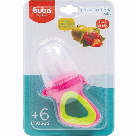 Alimentador Porta-frutinha para Bebê Rosa e Verde (6m+) - Buba Baby