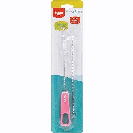 Escova para Limpeza de Canudo Rosa - Buba Baby