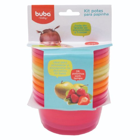 Kit 6 Potes para Papinha Meninas - Buba Baby