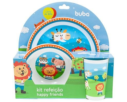 Kit Refeição Happy Friends - Buba Baby