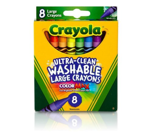 Giz de Cera Lavável Grande 8 Cores - Crayola