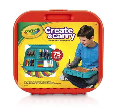 Create & Carry Estojo Vermelho - Crayola