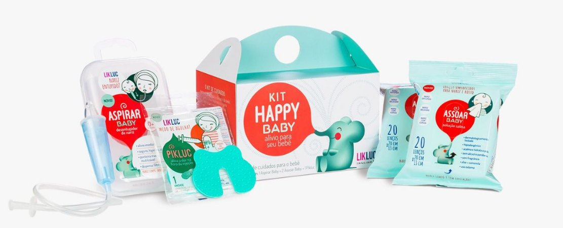 Kit Happy Baby Aspirador Pikluc Assoar - LikLuc