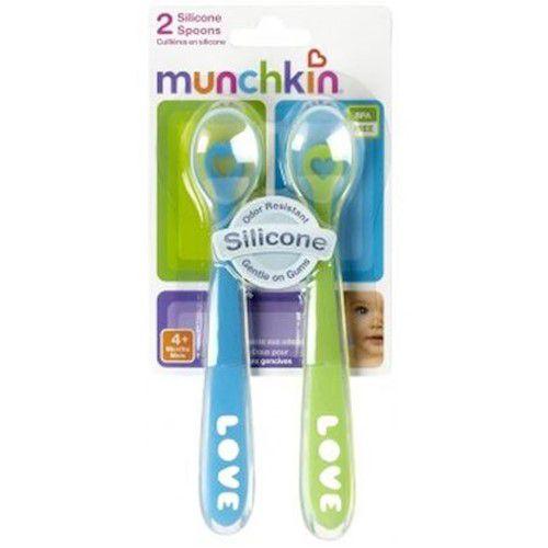 Colheres de Silicone Azul e Verde - Munchkin