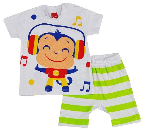 Pijama Music Macaco 2 Peças - Get Baby