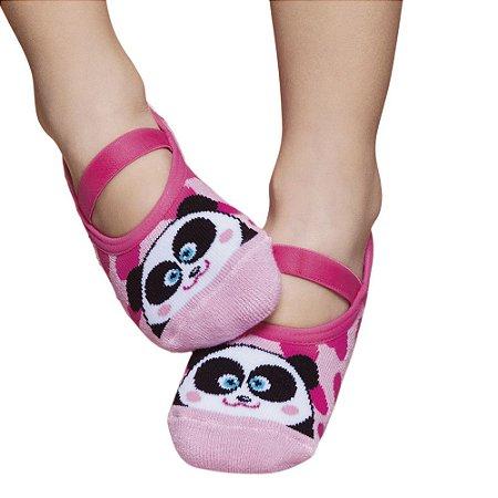 Par de Meias Sapatilha Rosa Panda - Puket