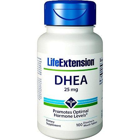 DHEA 25 mg com 100 Cápsulas - Life Extension