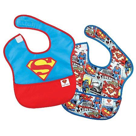 Kit com 2 Babadores Plastificados do Superman - Bumkins