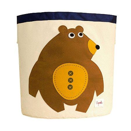 Organizador de Brinquedos Redondo Urso - 3 Sprouts