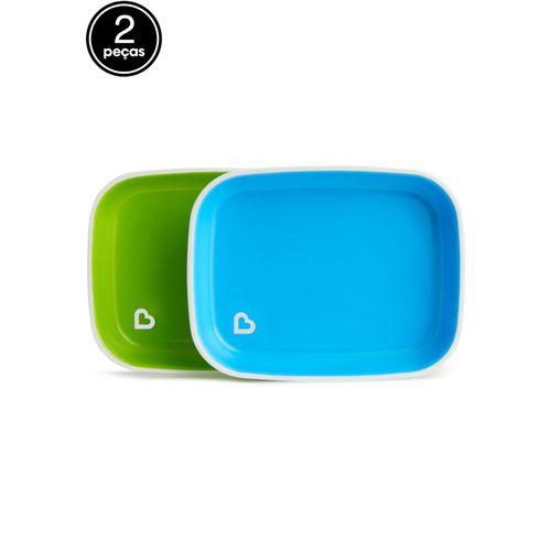 Conjunto de Pratos Azul e Verde (emb. c/ 2 unid.) - Munchkin