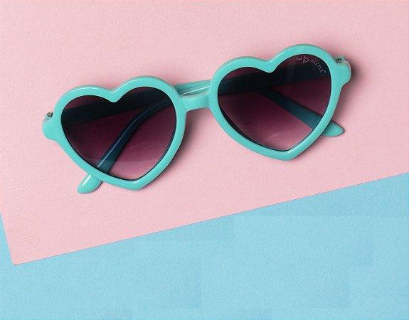 Óculos 004 Verde Coração - Mon Sucré