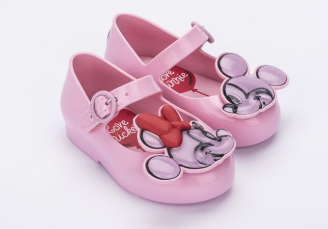 Sapatilha Mini Rosa Sweet Love Minnie e Mickey - Melissa