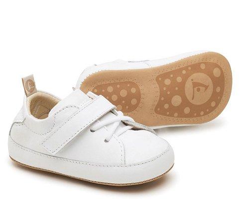 Calçado Bebê em Couro/Textil, Sola Couro B.LHG3-2043 - Tip Toey Joey