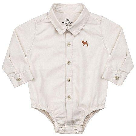 Body Camisa Social Bebê em Oxford Menino - Charpey