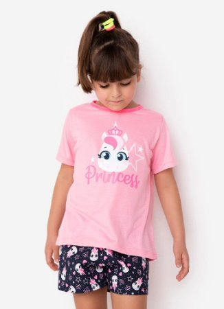 SHORT DOLL MC KIDS ECO UNICORNIO ROSA