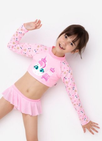 CROPPED KIDS UNICORNIO ROSA BEBE