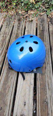 Capacete de Proteção leloskateboards Azul
